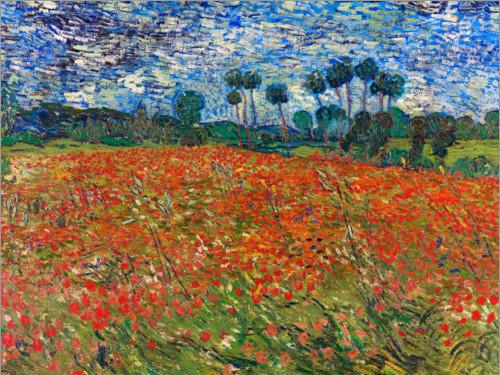 Campos de Papoilas do pintor Monet